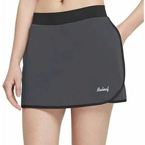 Baleaf Activewear Running Tennis Skort Gray L